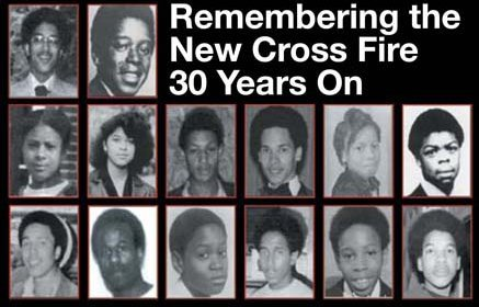 Collage of te 14 people killed in the new cross fire.